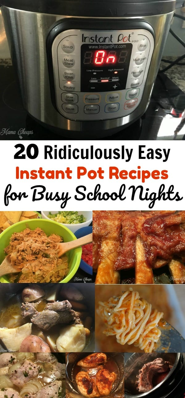 Ridiculously Easy Instant Pot Recipes for Busy School Nights