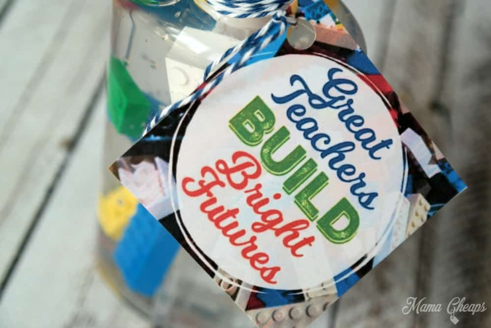 Teacher Lego Gift Tag