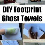 DIY Footprint Ghost Towels