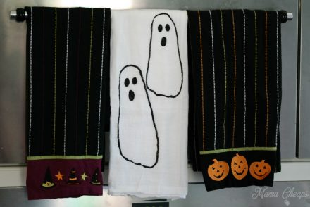DIY Footprint Ghost Towels