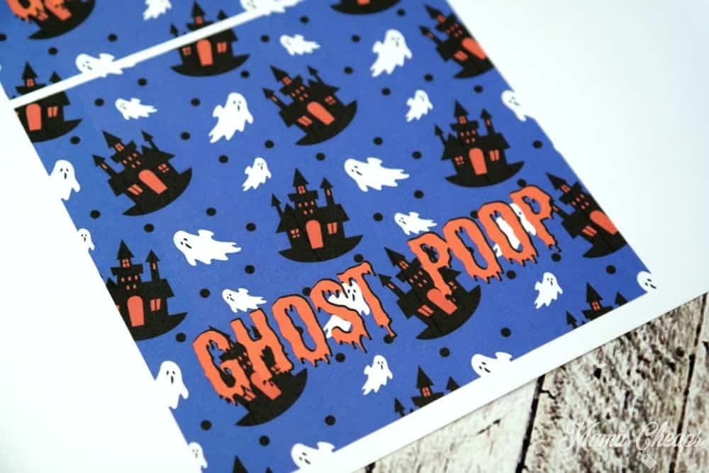 Ghost Poop Printable Tags