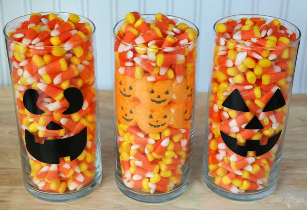 Halloween Candy Centerpieces