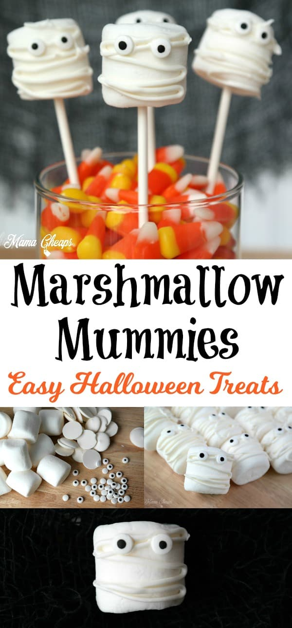 Marshmallow Mummies Halloween Treats