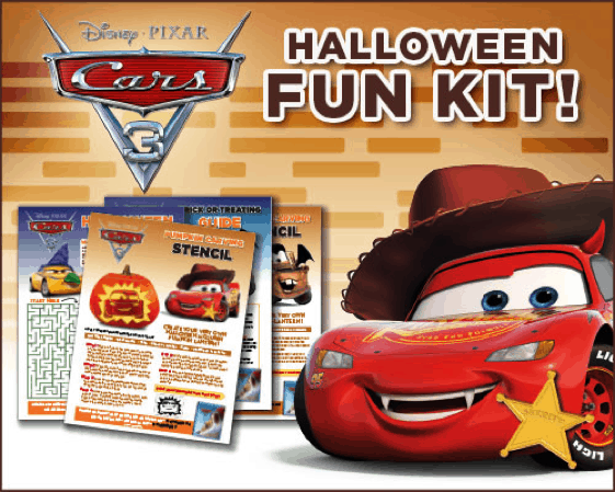 Cars Printable Halloween Activity Kit