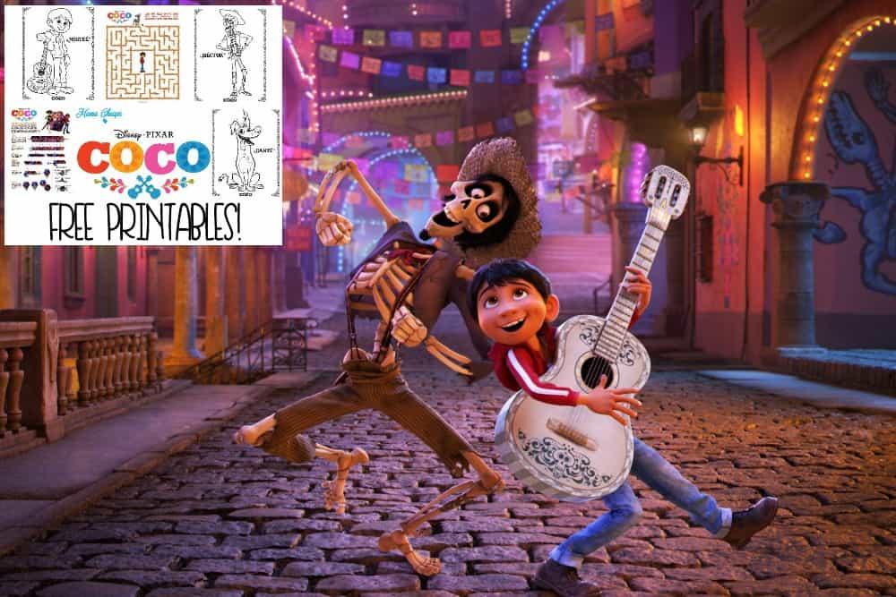 Disney Pixar 39 s Coco Movie Free Printables Mama Cheaps