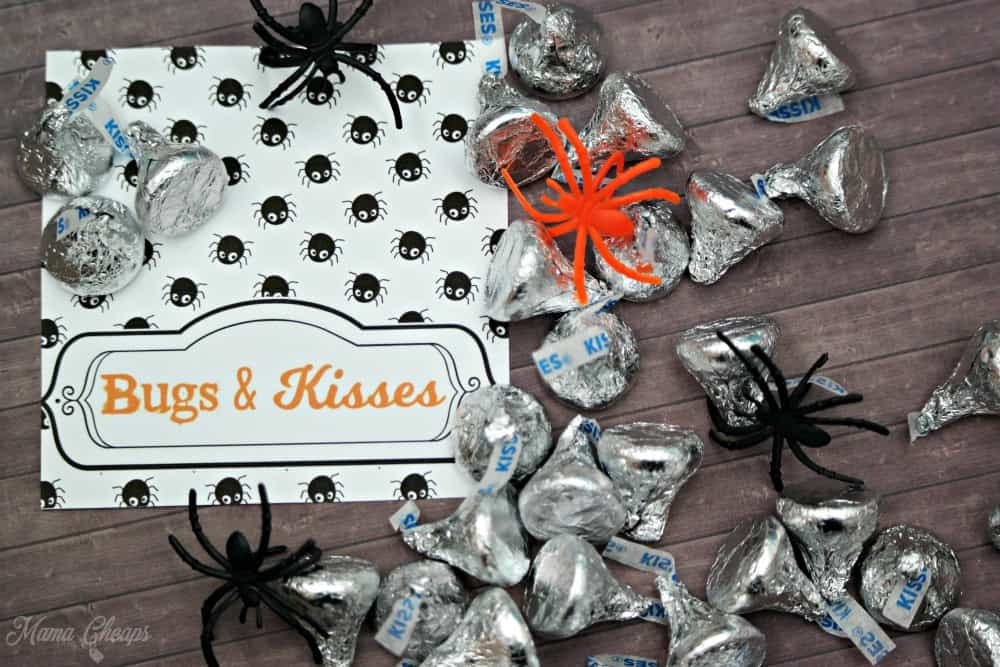 photograph about Bugs and Kisses Printable titled Insects and Kisses Uncomplicated Halloween Take care of + Totally free Printable Tags