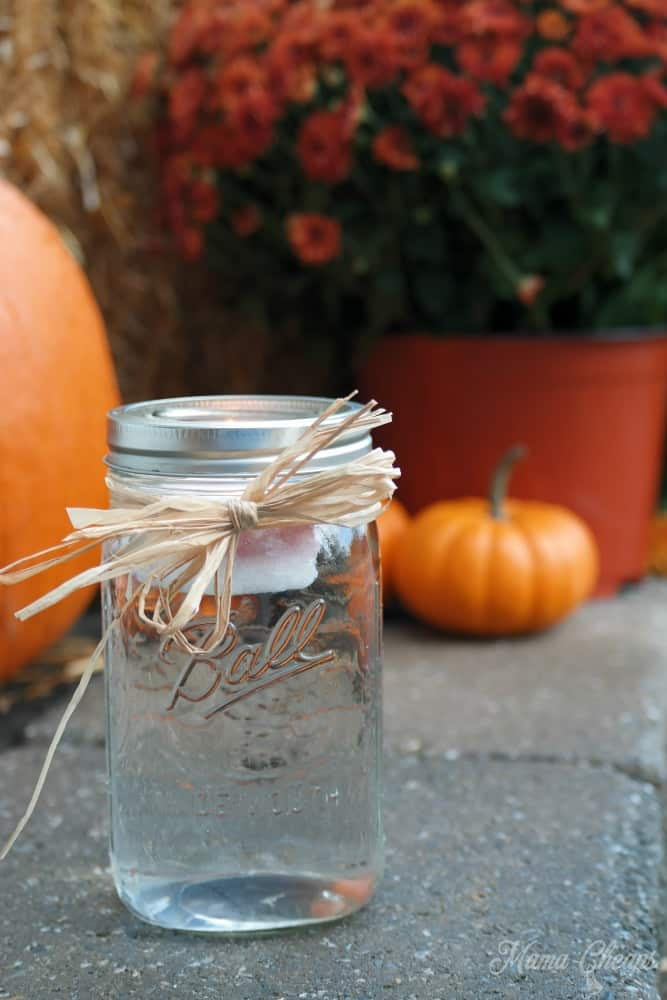 Mason Jar Candle Luminary