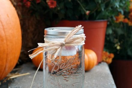 Easy Mason Jar Floating Candle Luminary