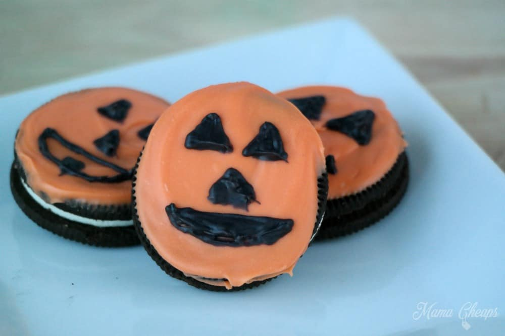 Pumpkin Jack O Lantern Cookies