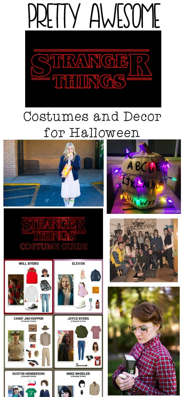 Stranger Things Costumes and Decor for Halloween
