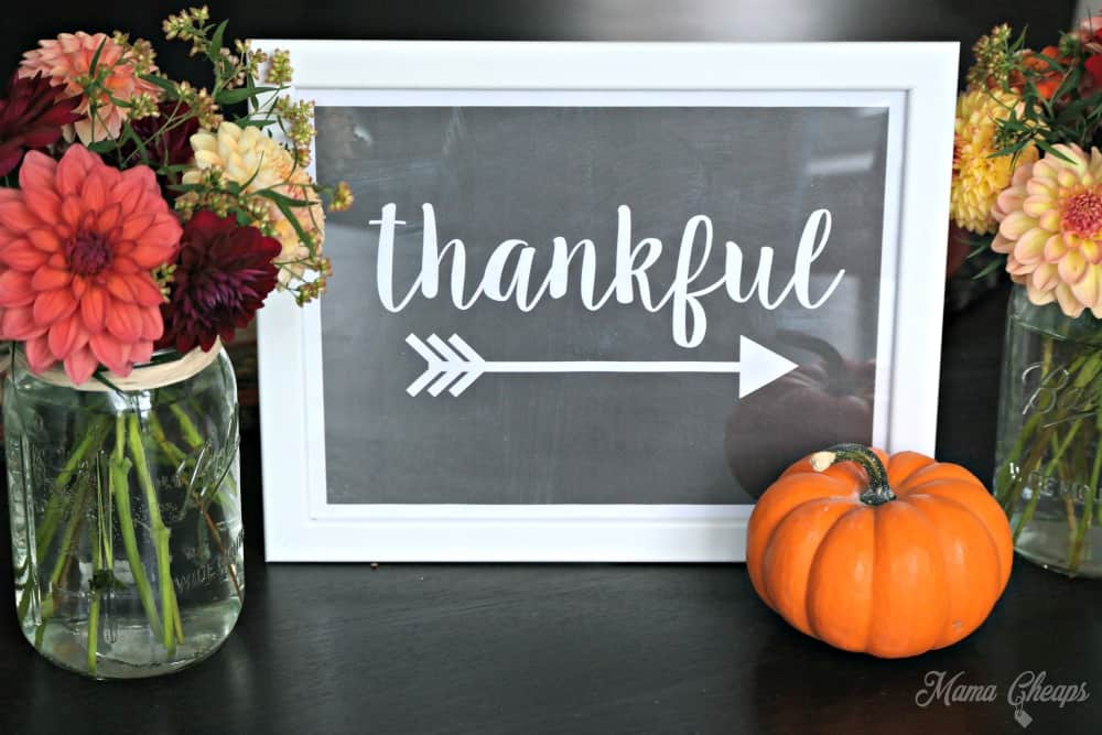 Free Printable Thankful Sign