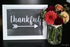 Free Printable Thankful Sign