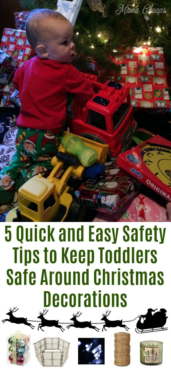 5 Quick and Easy Safety Tips to Keep Toddlers Safe with Christmas Decorations