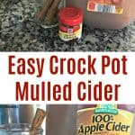 Easy Crock Pot Mulled Cider Recipe