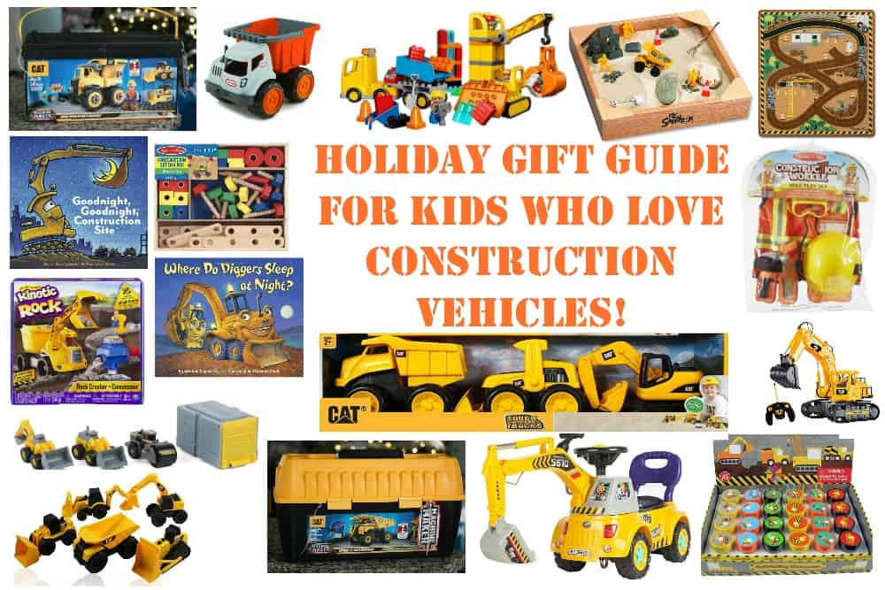 holiday gift guide for kids who love construction vehicles mama