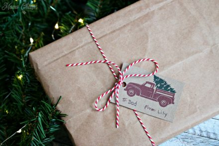 Free Printable Red Truck Christmas Gift Tags