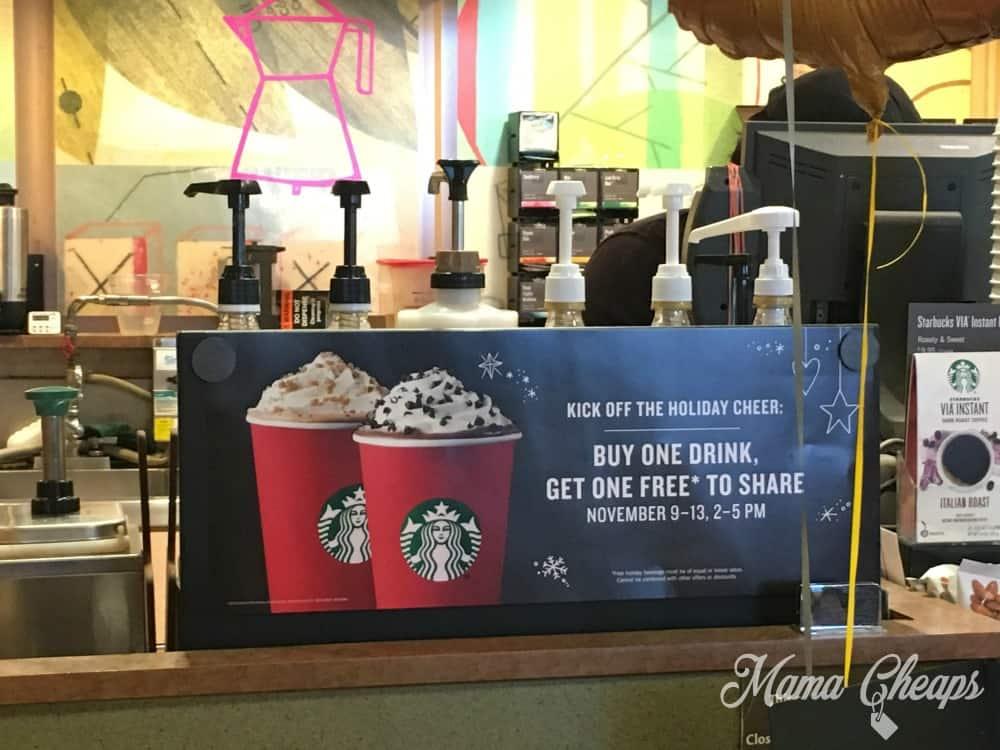 Starbucks Happy Hour BOGO Free