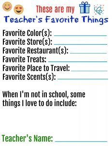 Teachers Favorite Things