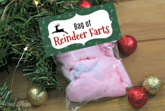 Bag of Reindeer Farts Gag Gift