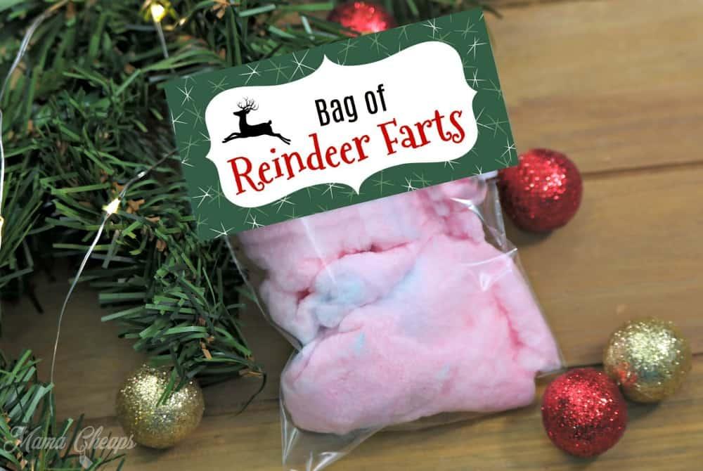 Bag of Reindeer Farts Gag Gift