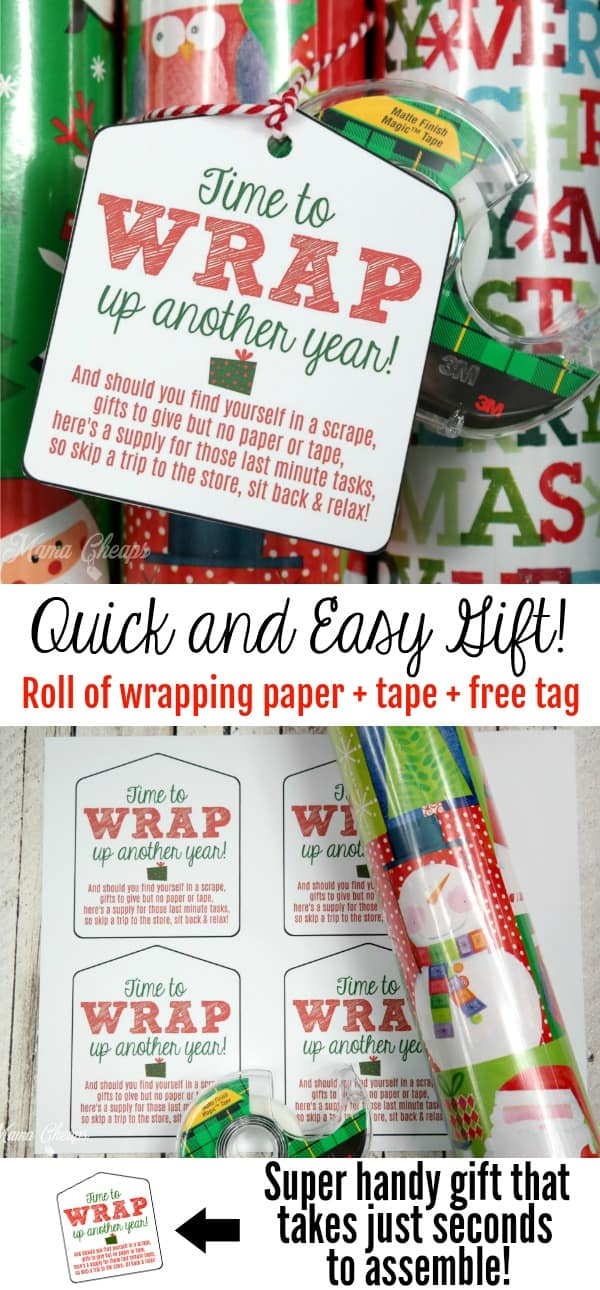 Christmas Wrapping Paper and Tape Gift Idea