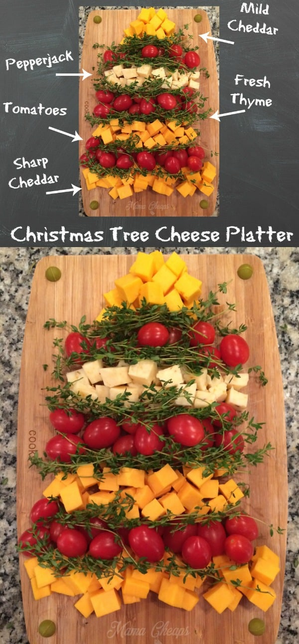 Easy Christmas Tree Cheese Platter