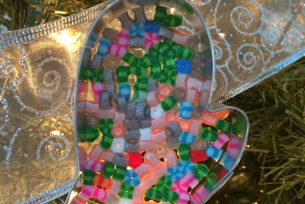 Perler Bead Cookie Cutter Ornaments