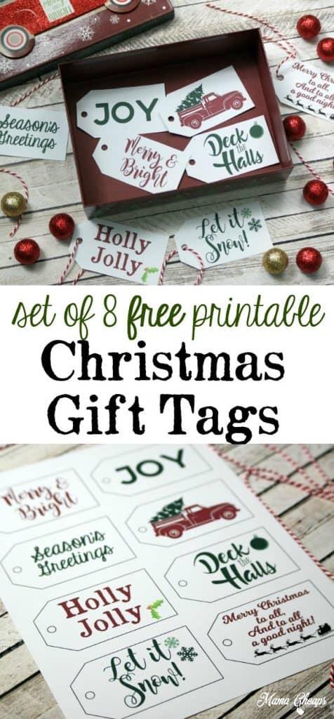 Free Christmas Gift Tags Set