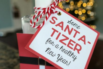 Santa Sanitizer Gift Idea
