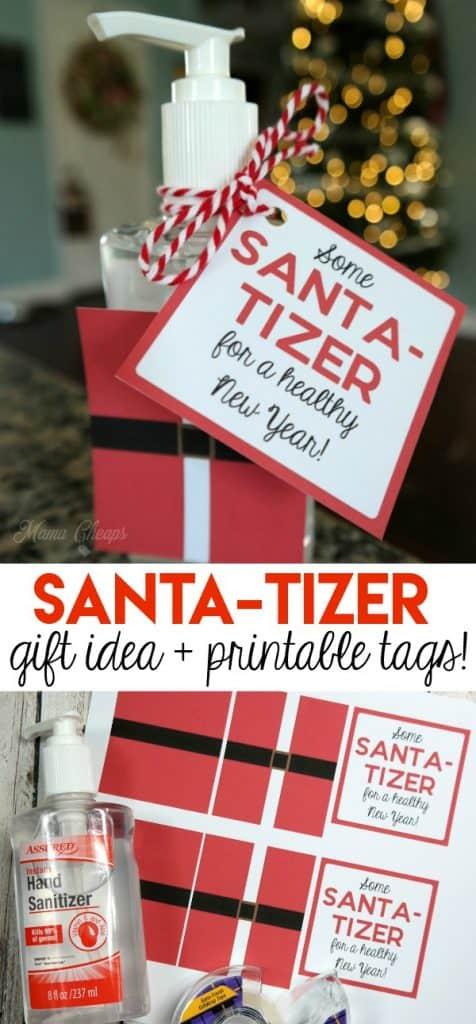 Santa Tizer Gift Idea with Printable Tags