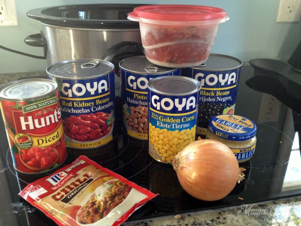 Slow Cooker Chili Ingredients