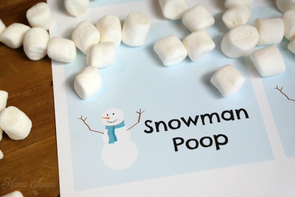 Snowman Poop Marshmallows