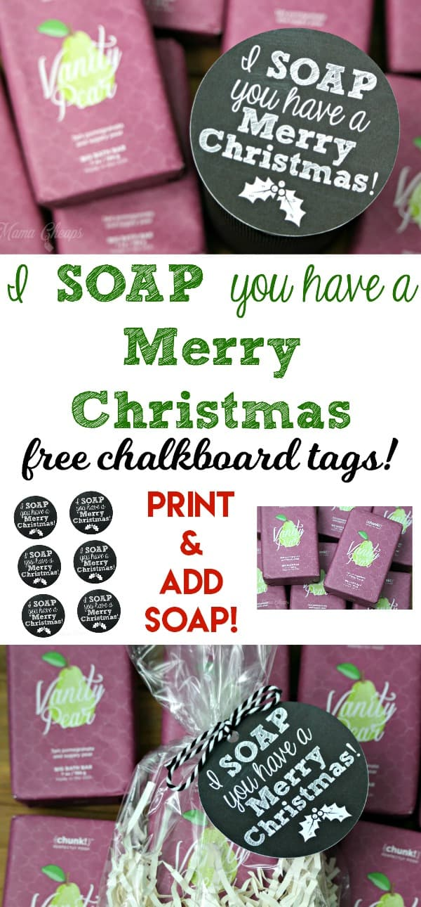 Soap You Have a Merry Christmas Gift Tag