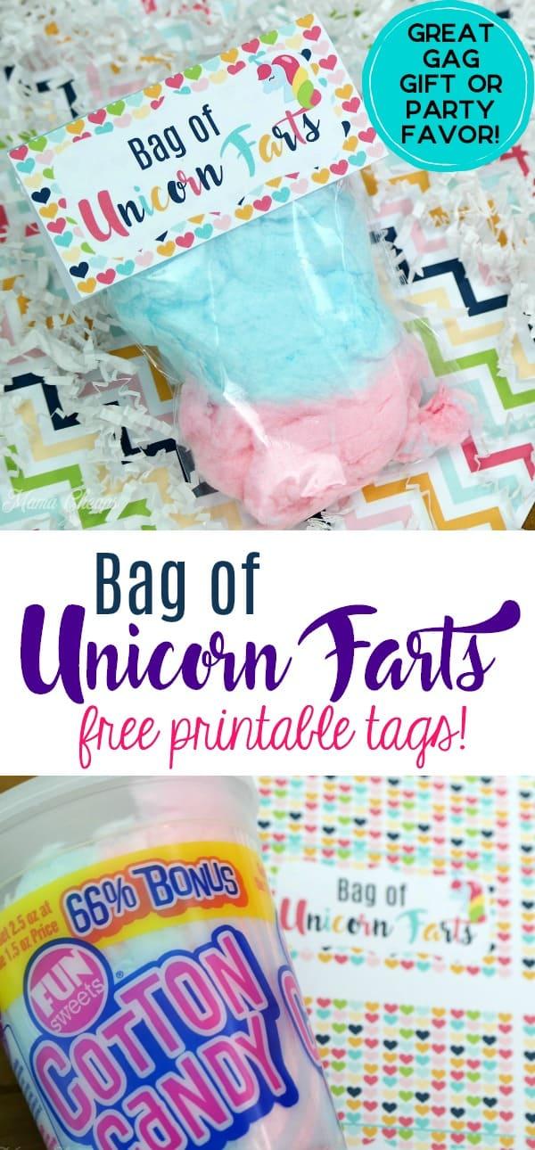 Unicorn Farts Printable Tags
