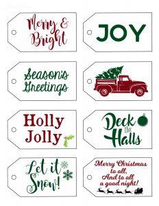 Vintage Christmas Tags JPG