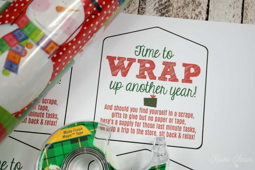 Wrap Up Another Year Gift Tag