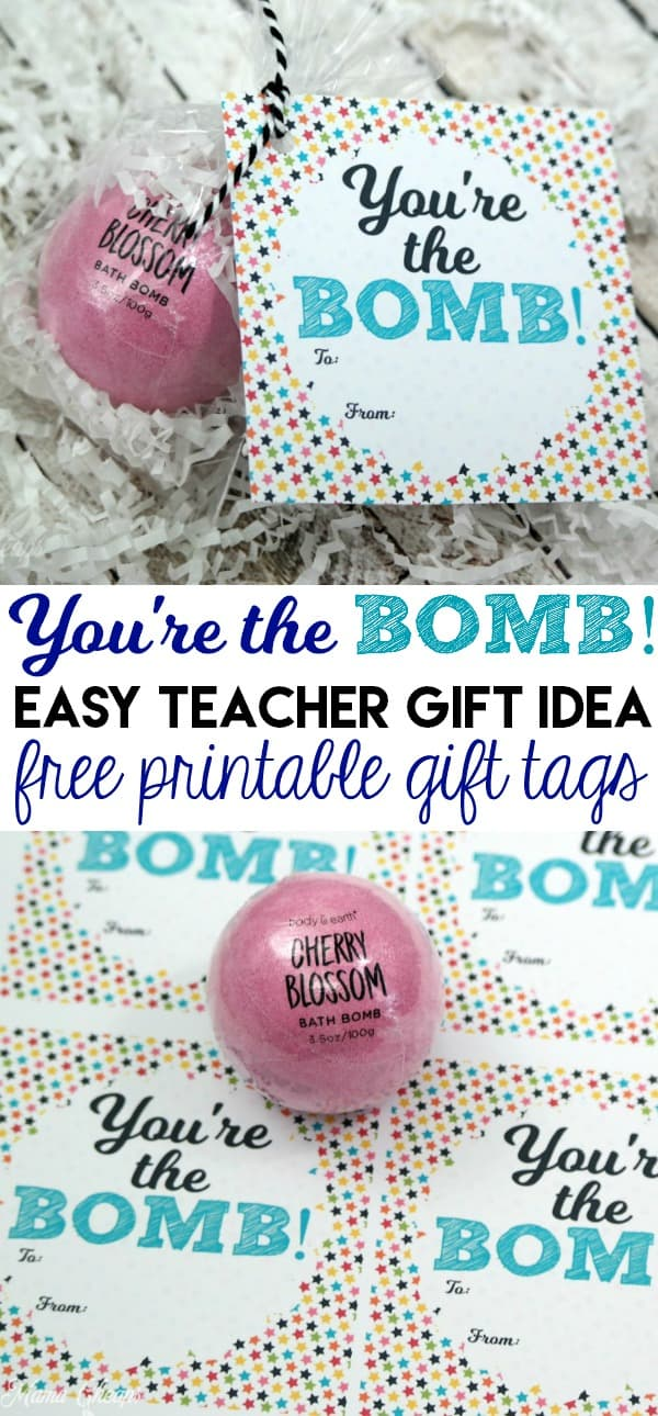 You're the Bomb Printable Gift Tags