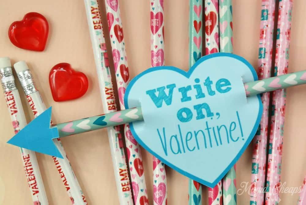 Cupid Pencil Valentines