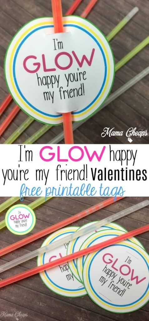 Glow Stick Valentines Idea