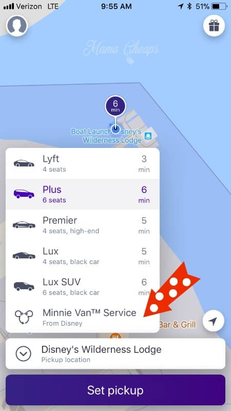 Lyft App in Disney