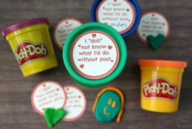 Play-Doh Valentine Idea