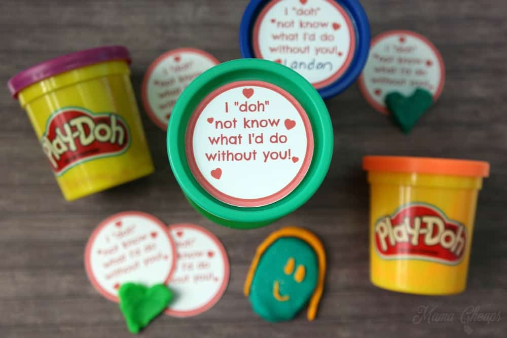 Play-Doh Valentine Idea