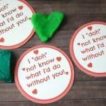 Play Doh Valentine Printables