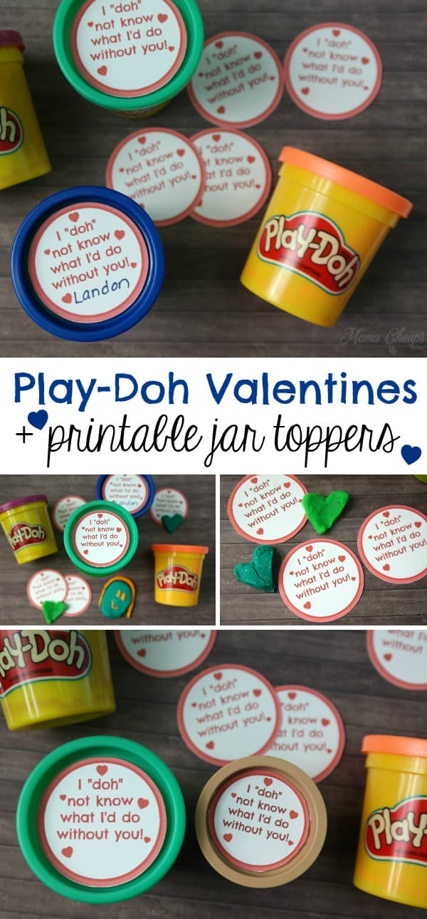Play Doh Valentines Printables