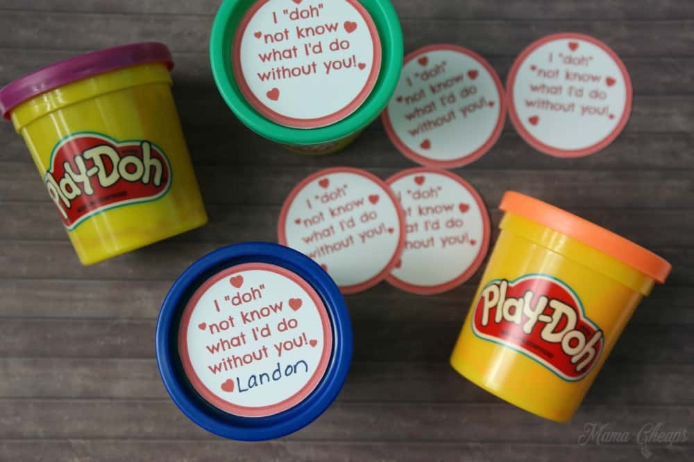 Easy Play Doh Valentines