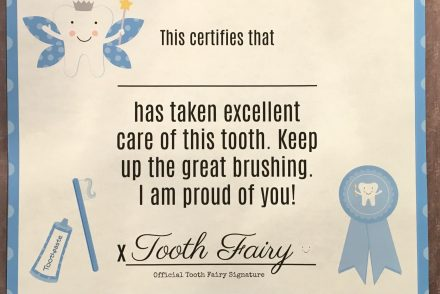 Tooth Fairy Printable Certificate
