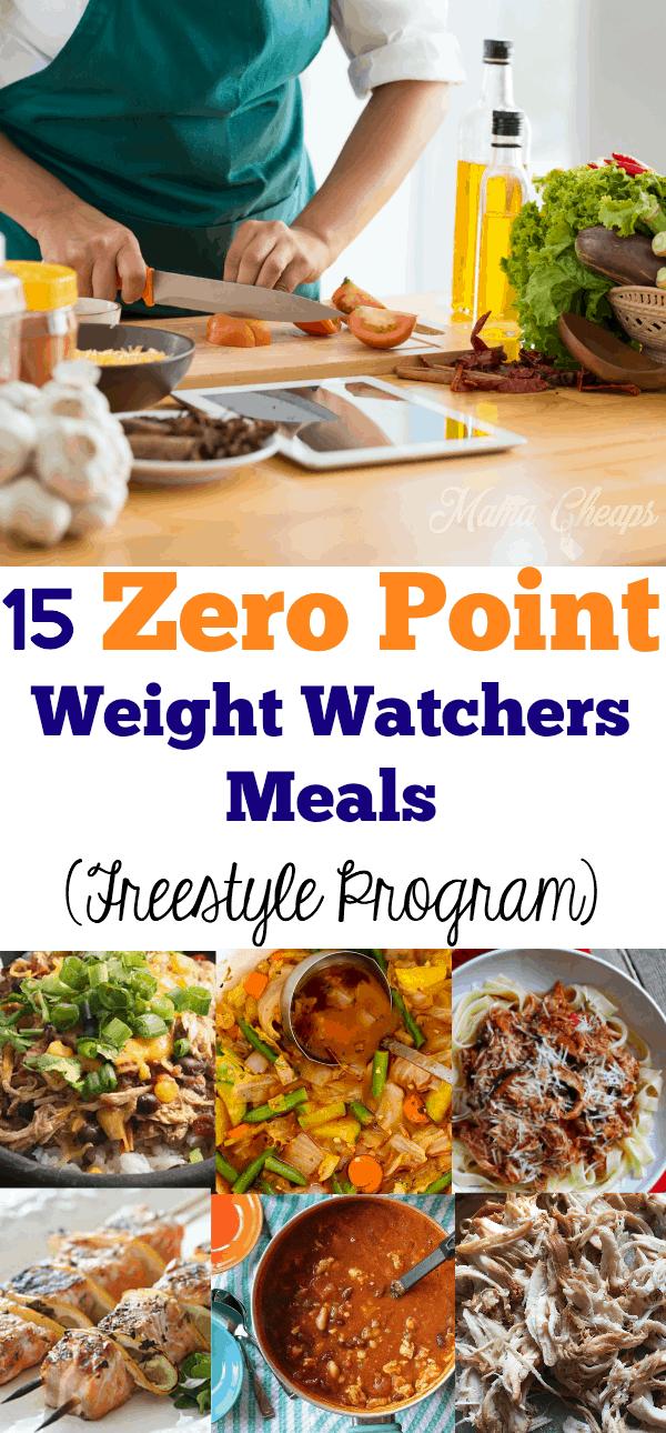 15 Zero Point Weight Watchers Meals (Freestyle Program)