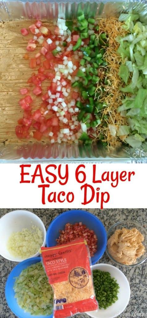 Easy 6 Layer Taco Dip
