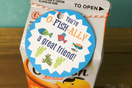 Easy Goldfish Valentines