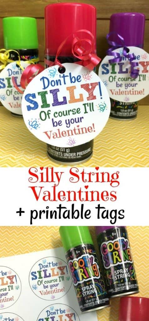 Silly String Valentine Ideas